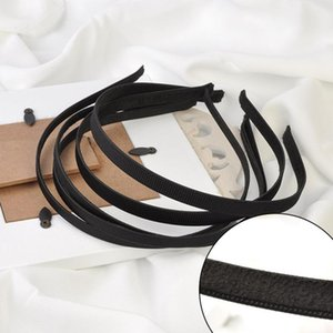 10PCS 5mm 10mm 블랙 그 로그 랭 리본 와이어 머리띠 DIY의 헤어 액세서리 지어 일반 금속 머리띠와 벨벳 돌아 가기 대상