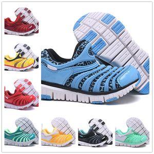 Com caixa de desconto crianças lagartas sapatos verdes meninos azul tênis meninas amarelo sapatos de caminhada crianças formadores vermelho juventude ciano tamanho da ue 22-35