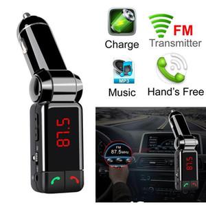 USB зарядное устройство BC06 Bluetooth автомобильный комплект Bluetooth беспроводной FM передатчик MP3-плеер Handsfree с двойной USB для зарядки 5V / 2A LCD U диск проигрывателя