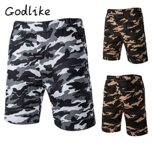 GODLIKE Männer Tarnung Größe beiläufige Kurzschlüsse, gedruckt atmungsaktive Shorts, modische Kleidung Shorts außerhalb Persönlichkeit