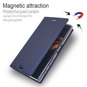 Leder-Schlag-Mappen-Kasten für Sony Xperia XA XA1 Plus-XA2 Ultra-Z5 X XZ Premium-XZ1 XZ2 Compact L2 L1 Magnetic Vollstandplatz-Abdeckung