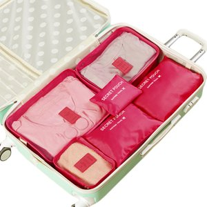 6 PCS Set Organizer Travel Bag Storage Tidy Pouch Luggage Organizer Cabinet Wardrobe Large Travel Bag Luggage Suitcase