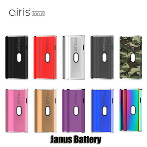 100% d'origine Airis Janus Batterie 650 mAh Tension Préchauffer Tension Variable VV 2 EN 1 Boîte Mod Pour 510 Épaisse Cartouche D'huile Vape Pods Authentique