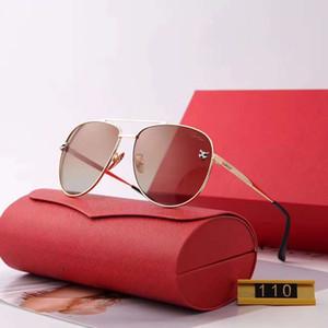 Homens de verão Designer de Óculos De Sol Das Mulheres Óculos De Sol Da Moda Adumbral Óculos de Proteção Óculos de Condução UV400 Modelo 110 5 Cores de Alta Qualidade com Caixa