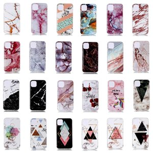 Marble IMD Soft TPU Funda para Iphone 11 Nuevo 5.8 6.1 6.5 2019 Samsung Note 10 Pro Natural Granite Stone Rock Luxury Fashion Skin Phone Cover