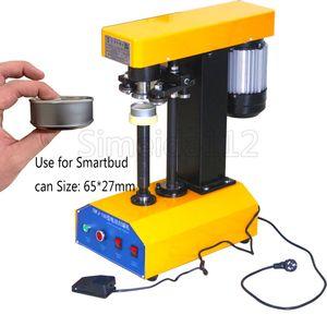 Automático smartbud Lata máquina de selagem de plástico e tampa de lata de metal máquina de vedação um botão de utilização fácil