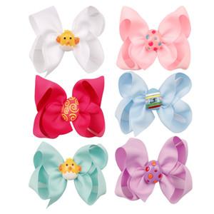 4,5 pouces Easter Eggs filles Bow Clips multicolores épingles à cheveux mignon oeuf Barrettes enfants cheveux clip enfants Boutique Accessoires cheveux M961