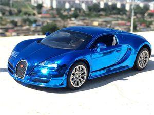 1:32 Bugatti Veyron High Simulation Модель автомобиля из легкого сплава с задним ходом Diecast Car Детские игрушки Коллекция автомобилей J190525