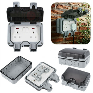 Waterproof Outdoor 13A 1Gang 2Gang Storm Switched Socket Case Box Single Double Cases IP66 Outside Use Plug