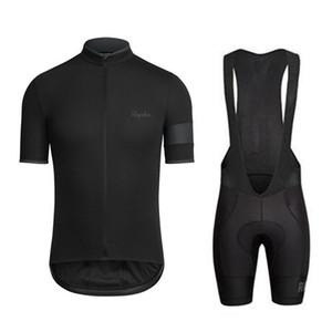 2019 Rapha Ciclismo roupas bicicleta camisa camisa Bib Shorts Set roupas bicicleta Vestuário Homens manga curta Camisa esporte K072702