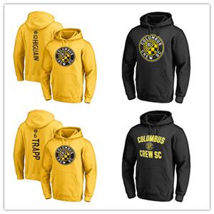 MLS Soccer Hoodies # 10 Higuain Columbus # 6 Trapp Crew SC # 4 Мужская модная футболка с капюшоном Поклонники уличных курток Желтый Черный с принтом логотипы