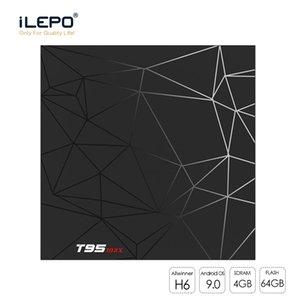 T95 ماكس الروبوت التلفزيون مربع 4 + 64G H6 رباعية القشرة-A53 الأساسية الروبوت 9.0 الذكية التلفزيون صندوق 2.4Gz واي فاي 100M LAN TV صندوق