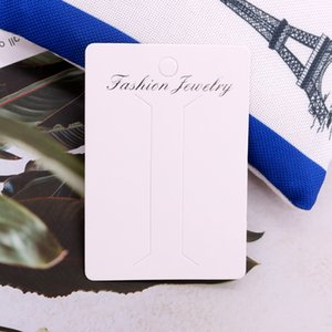 Fashion 5x8cm Head Clip Display Paper Cards 100pcs lot DIY Tassel Hair Accessories Packing Labels Customized Logo Extra Cost
