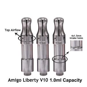 Bobine en céramique de cartouches de vape de cartouches originales de V10 de Amigo Liberty V10 réservoirs en verre épais atomiseur de cartouche de vape de stylo de vaporisateur chariots E cigarettes