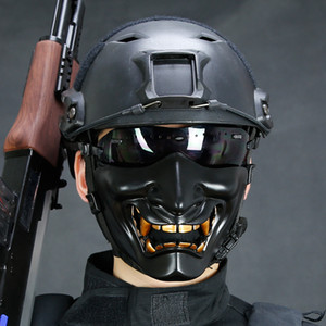 1 STÜCKE Airsoft Paintball Maske Brille Hannya Maske Halloween Armee von 2 BB Pistole Paintball Prajna Maske Jagd Party Requisiten