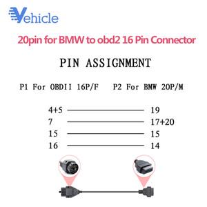 Кабель 20pin для obd2 16 контактный разъем кабель сканер разъем для MB OBD Car Diagnostic Auto Tool