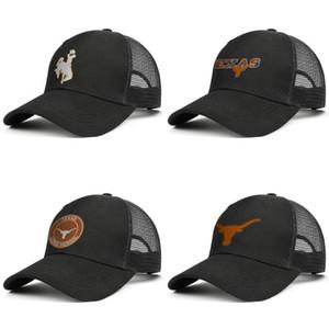 Мужская Техас Longhorns футбол логотип Orange Mesh Cap Женщины Открытый Вентиляционное Гольф Hat Wyoming Cowboys Техас Лонгхорнс Кокосовое дерево Логотип