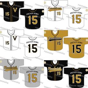 Personalizado Vanderbilt Commodores Camisola de Beisebol Mulheres Homens Juventude Branco Tudo Costurado Jerseys de Beisebol Rápido Frete Grátis