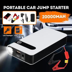 12V 20000mAh 자동차 점프 스타터 USB 점퍼 박스 전원 은행 배터리 충전기 비상 시작 장치 자동차 점프 스타터
