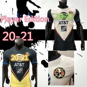 Player versión G. Dos Santos 20 21 Inicio América del amarillo del jersey de fútbol R.SAMBUEZA P.AGUILAR 2020 2021 México distancia club de fútbol camisa de las mujeres