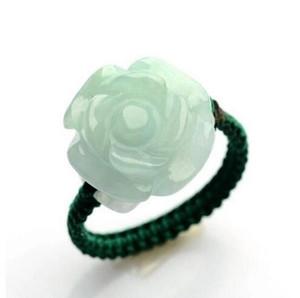 meravigliose Car Jade Carvings Roses Jade Circles autentici anelli da donna fatti a mano di giada