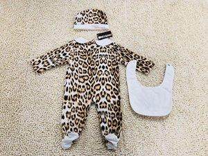 Vêtements de bébé garçon 9 12 mois Nouveau-né Jumpsuit Bébés filles Vêtements Cap Romper Costume Bib coton Vêtements bébé Layette Set NOUVEAU