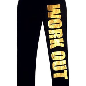 2019 Spring and Autumn Work Out Yoga Pants with Alphabet Printed Cotton Nine Score Underpants gym pants