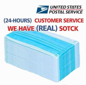 أقنعة الولايات المتحدة الأسهم المتاح وجه 3 رقائق الغبار Mascherine أقنعة الغطاء الواقي مجموعة مكافحة الغبار قناع DHL شحن مجاني