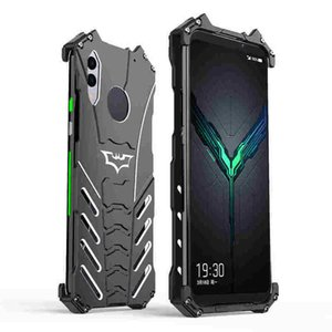 For Xiaomi Black Shark 2 pro Phone Case Shatter-resistant Shockproof All-inclusive Particle Frosted Batman Metal Phone Case