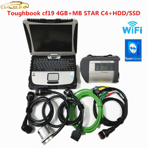 Звезда C4 MB SD Connect с V2019.05 Soft-вещевого HDD SSD Toughbook CF19 4 Гб ноутбук мб звезда c4 Diagnostic Tool многоязычной