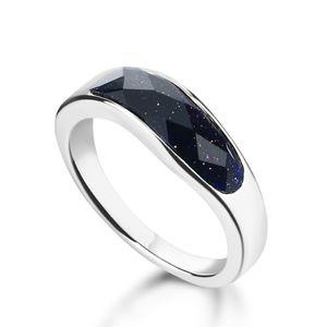 Fashion Wave Sterling Silber Ring. Wiederherstellung der alten Weisenfrauen rings.100% realer fester Ring des Silbers 925.Charm Schmucksachen