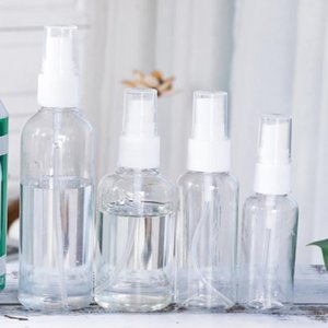30ml / 50ml / 100ml Transparent leere Spray-Flaschen Reisen tragbare Kunststoff Mini nachfüllbare Behälter Leere Parfüm Kosmetische Flasche DBC BH3552