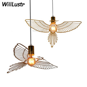 Modern Nordic Design Bird Pendant Light Engraved Sculpture Flying Bird Bedroom Dinning Room Bar Restaurant Hotel Suspension Lamp