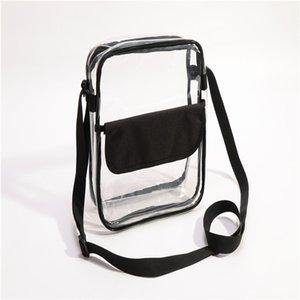 Очистить Кошелек стадион Утвержден сумка + PATCH с молнией и плечевым ремнем