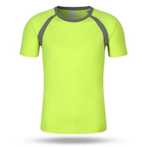 2020 summer simple wild mesh quick-drying round neck short sleeves casual sports Slim T-shirt advertising color matching T-shirt men