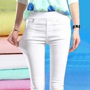 C5268 Pantalons neuvième Casual Printemps Automne Femmes Tight Pants Pantalons Slim Crayon
