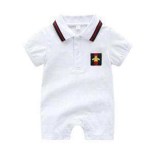 Hot babyspielanzug Sommer Neue Stil Kurzarm Mädchen Kleid Babyspielanzug Baumwolle Neugeborenen Körper Anzug Baby Pyjama Jungen kleidung Tier Strampler