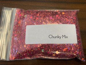 Holographic Chunky Glitter 24 Colors 200g Face Body Eye Nail Festival Chunky Holographic Glitter Polyester Glitter,J441068