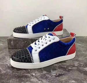 Plus Size 35 a 42 a 46 Mens Spikes orlato inferiori rosse Scarpe Sneakers Arena Designer scarpe di moda di lusso viene con Logo Box