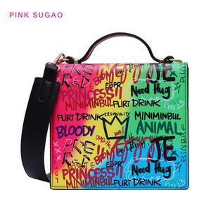 Rose concepteur Sugao sac femmes sac bandoulière messenger 2020 nouveaux sacs ruban graffiti BRW bourse de mode dame de téléphone sac à bandoulière