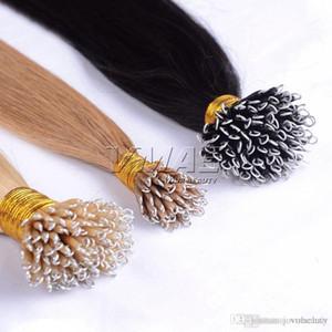 """Nano anello 0.5g / 100s Strand regina dei capelli disegnata doppio 18 """"a 30"""" 50g Nano estensioni dei Capelli lisci Hairpiece VMAE capelli OPP"""
