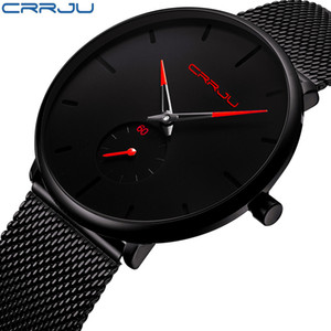 Crrju Часы Женщины и Мужчины Часы Top Brand Luxury Известный платье моды часы унисекс наручные часы Ultra Thin Relojes Para Hombre