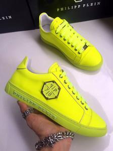 Los hombres de los zapatos casuales de alta calidad de los hombres del cráneo pp zapatos de cuero-0018 deportes de los hombres