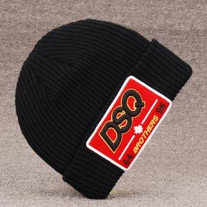 2020 نمط جديد قبعات DSQICOND2 التطريز الكشمير محبوك عشاق سميكة دافئة الزوجين القبعات الوالدين وأطفال الشوارع المد الهيب هوب قبعة من الصوف D53