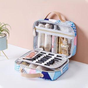 Waterproof Travel Wash Cosmetics Bag Lipstick Eyelash Brush Makeup Storage Pouch Toothbrush Towel Organizer Accessories Supplies