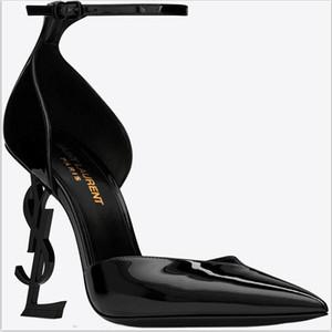 2019 Tasarımcı Yüksek Topuklu Güz Kadın Ayakkabı Sivri Burun Düğün Akşam Balo Parti Elbiseler Ayakkabı Kadınlar Seksi Bayanlar Modası Siyah Ayakkabı Pompaları