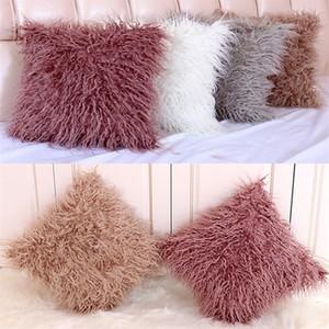Quente Hairy-LikeBedding Lã fronha tampa almofada do sofá almofada Caso Super macio fronha cama Supplies Home Textiles