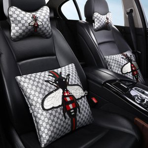 Popular New Bee style Neck Pillow Male And Female Headrest Neck Pillow Car Interior Protection Plush Car Four Seasons Car Pillow