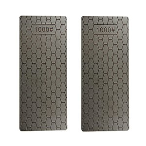 1000 # Plate Single Side Pierre à aiguiser diamant Affûtage Pierre Banc Sharpener 2pcs