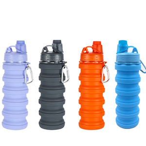 Taza de agua de gel de sílice Olla Tetera telescópica deportiva Portátil Plegable Multi colores Botellas de agua Nueva llegada 20 7lj L1